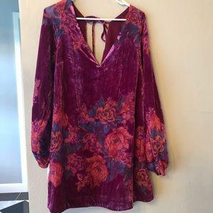 Free people velvet floral dress misha
